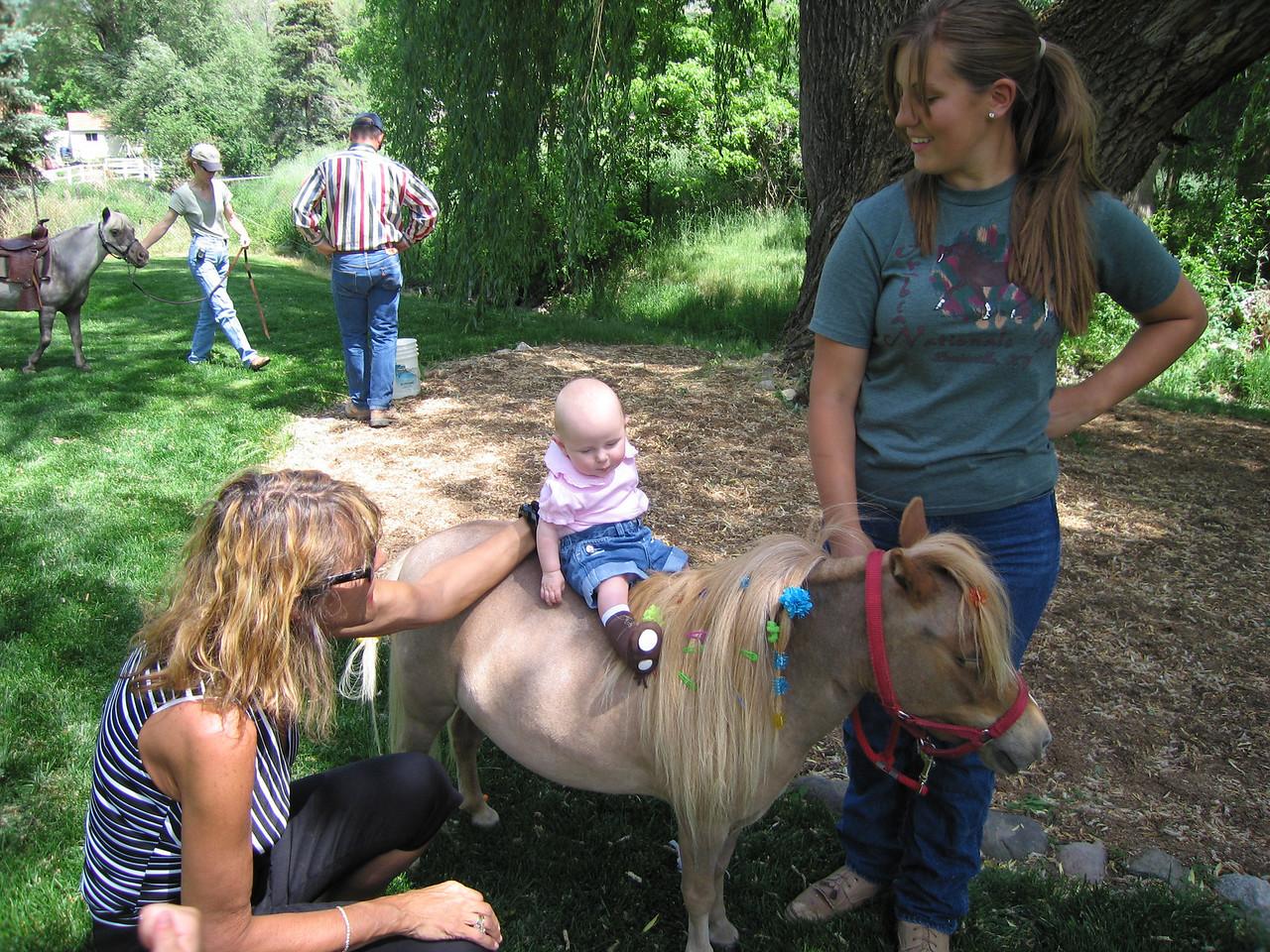 Paige on the mini horse