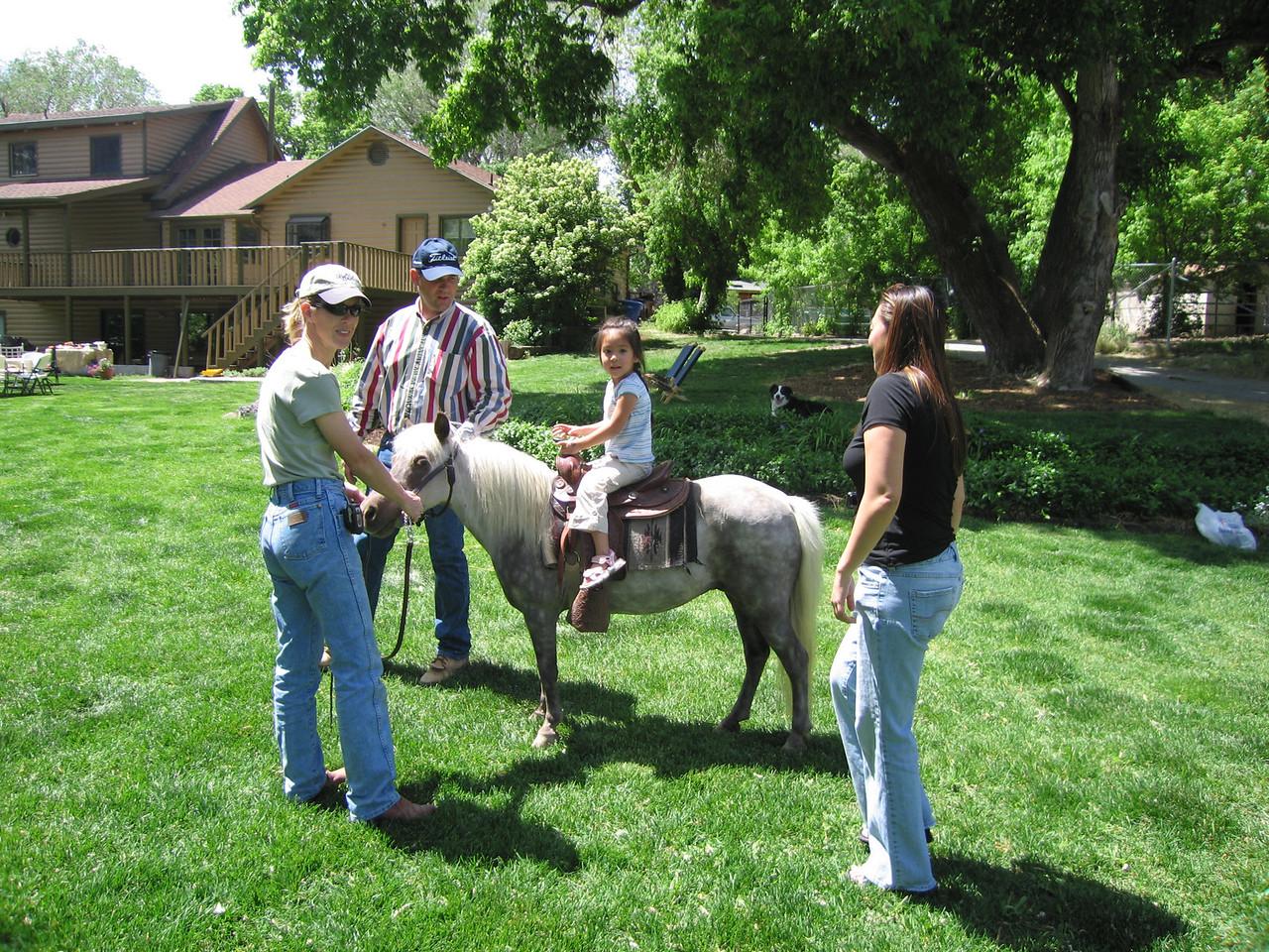Jocelyn on the pony