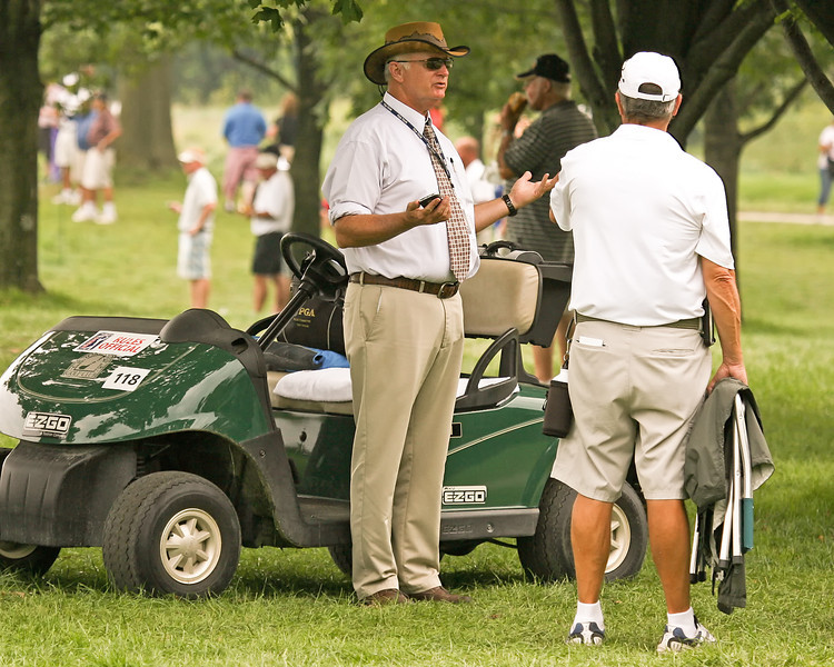 07 SEP 12  PGA Tour Rules Official Tony Wallin during Fridays Second Round action of The BMW Championship at The Crooked Stick Golf Club in Carmel, Indiana.
