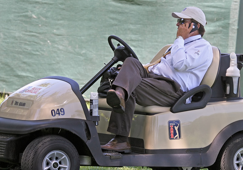 24 JUN 12  PGA Tour Rules Official Brad Fabel during Sundays Final Round at The Travelers Championship at The TPC at River Highlands in Cromwell, Connecticut.