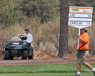 04 Aug 12 PHA Rules Official Robbie Ware in the forest during Saturdays Third Round action at The Reno Tahoe Open at Montreaux Country Club in Reno, Nevada.
