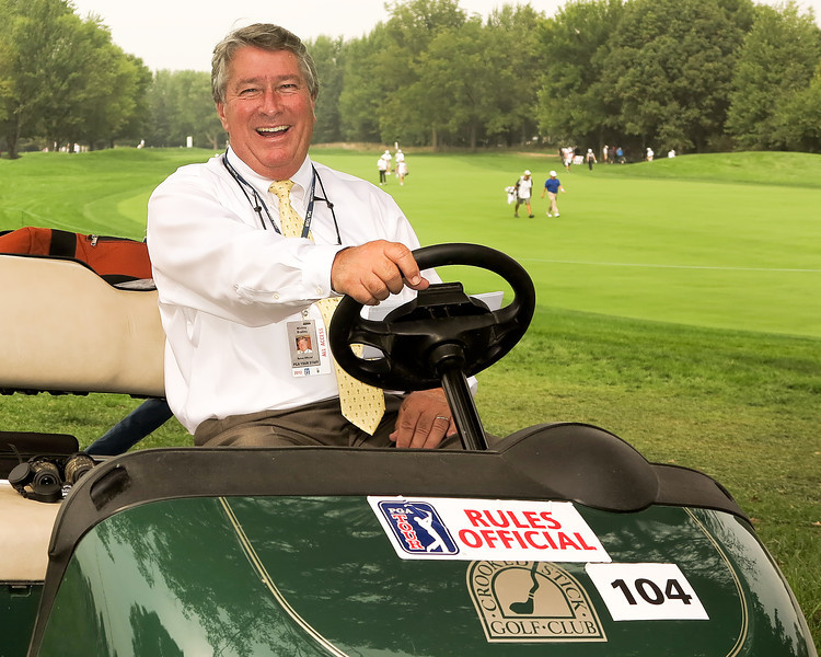 07 SEP 12  PGA Tour Rules Official Mickey Bradley during Fridays Second Round action of The BMW Championship at The Crooked Stick Golf Club in Carmel, Indiana.