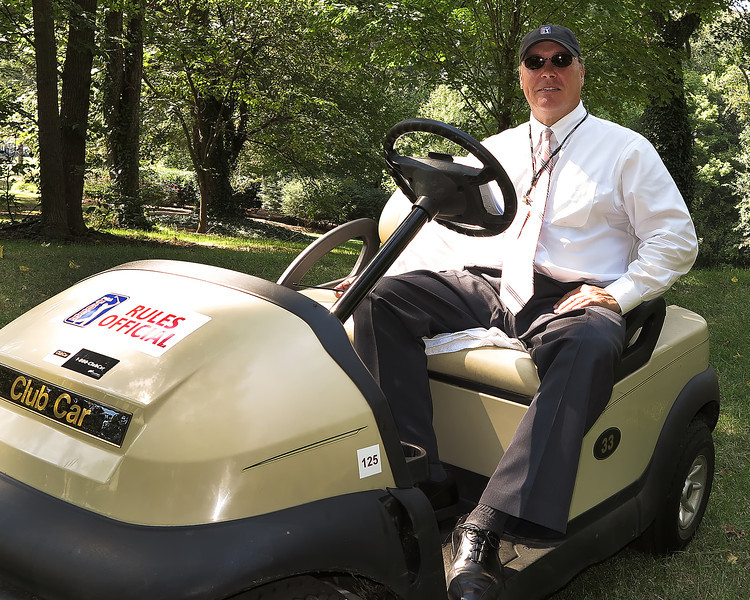 22 SEP 12  PGA Tour Rules Official John Mutch patrolling the woods  during Saturdays Third Round of The Tour Championship at The East Lake Golf Club in Atlanta, Georgia.