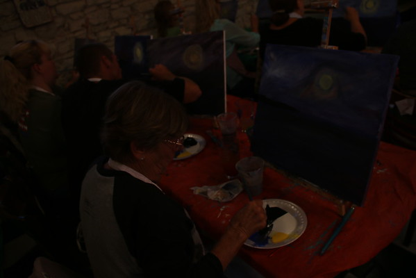 Paint And Sip At Woozers  8/23/2016