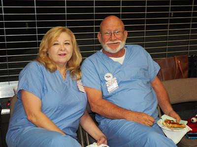 Pajama Dance | Bev & Bill Bellomy.  Do they sleep in their scrubs?