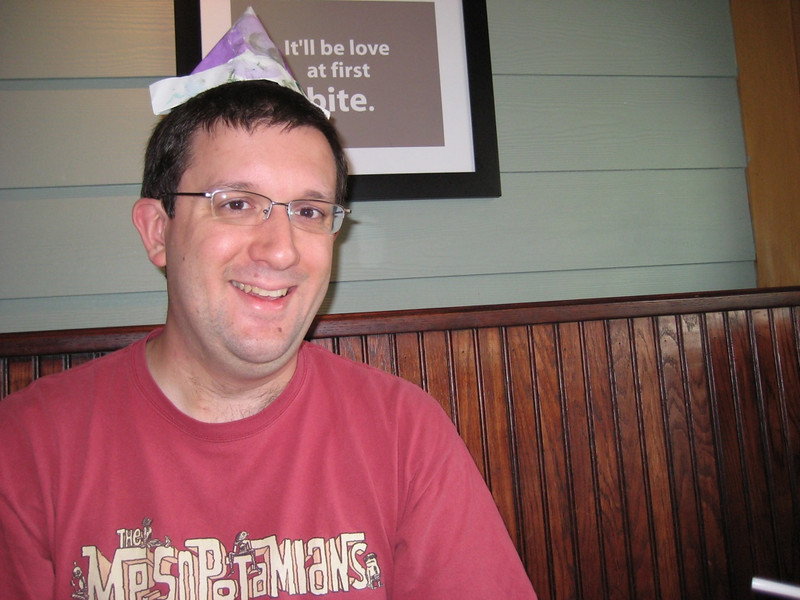 Papa and his party hat!