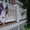 Mardi Gras-Custom Painted Mask Decorations on foamboard.<br /> Tent Party in Madison