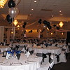 Black & Silver Prom-Balloon Centerpieces, Dance Canopy, and New York Backdrop.<br /> Maneeley's in South Windsor, CT