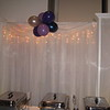 Purple Prom- The backdrop behind the buffet is decorated with a balloon cloud.<br /> Maneeley's in South Windsor