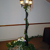 Parisien Party-Street Lamp with Metal Bicycle Decorated with Florals and Ivy.<br /> Maneeley's in South Windsor