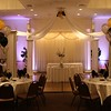 Adult Birthday Party- Dance Canopy with balloons in the center, up lights and balloon centerpieces.  <br /> Maneeley's in South Windsor