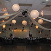 Dance Canopy-  Here's a close up of the dance canopy with lighted white lanterns and lighted silver stars.<br /> Maneeley's in South Windsor