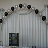 Black & Silver Prom-String of Pearls Arch Entrance.<br /> Maneeley's in South Windsor