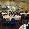 Luau-Tropical Island Painted Backdrop with Lighted Palm Tree and Table Decor. <br /> Maneeley's in South Windsor