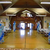 Balloons-Balloon columns and lights decorate a gym for a dance.<br /> St. Bridget's in Manchester