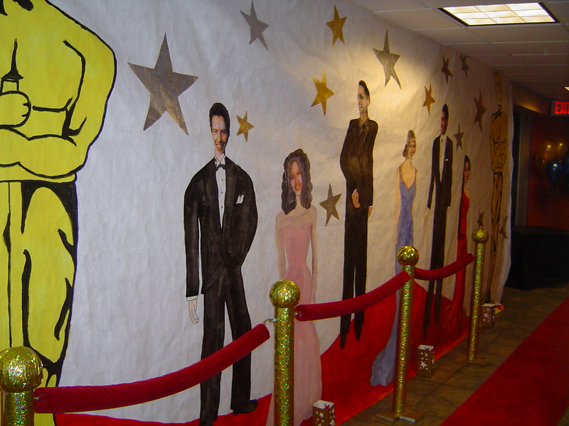 Hollywood-Red Carpet Entrance with Hollywood Stars and Oscars Mural.<br /> Courthouse Plus in Manchester
