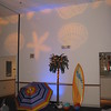 Beach Birthday Party- Here's a photo of the same area showing the lighting detail of shells that starts on the wall and carries up to the ceiling.  <br /> Maneeley's in South Windsor