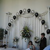Prom Entrance Arch- Black and Silver balloons greeted Prom guests in the foyer. <br /> Maneeley's in South Windsor