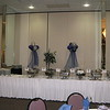 Prom Buffet- Balloon Clouds on tulle streamers behind the buffet.<br /> Maneeley's in South Windsor