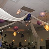 Here's to the Night Prom- Hanging Lanterns and Stars on the Dance Canopy with balloon centerpieces in the background.  Notice that the balloon centerpieces are high so they won't block the view of the Dance Floor.<br /> Maneeley's in South Windsor