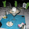 Beach Birthday Party- Here's a detail of the giant Margarita glass centerpiece.  <br /> Maneeley's in South Windsor, CT