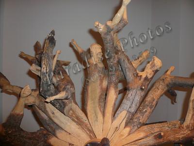 wood sculpture close