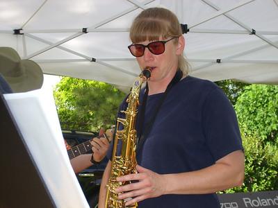 Dawn Hunter on Sax