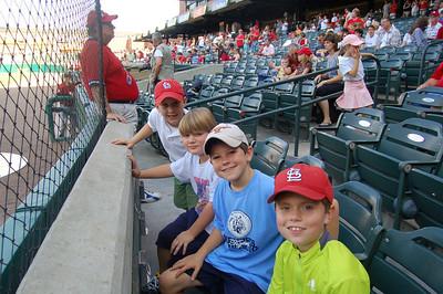 Preston's birthday with friends at Redbirds