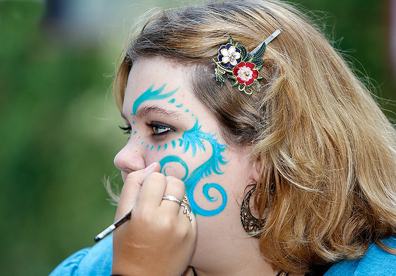Face Painting is Popular at the Fest.