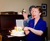 Danielle & Jenn surprising Ron with an ice cream cake