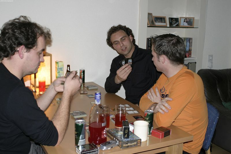 Playing Magic the Gathering, of course!