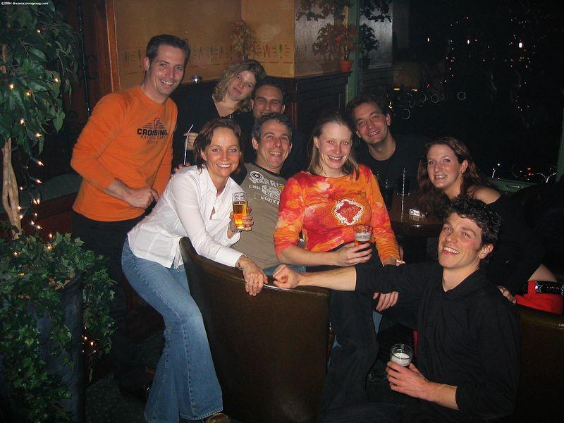 Group picture! Roy, Roos, Michiel, Natalie, me, Yvette, Imro, Karlien, Daniel in Paddy's in Enschede