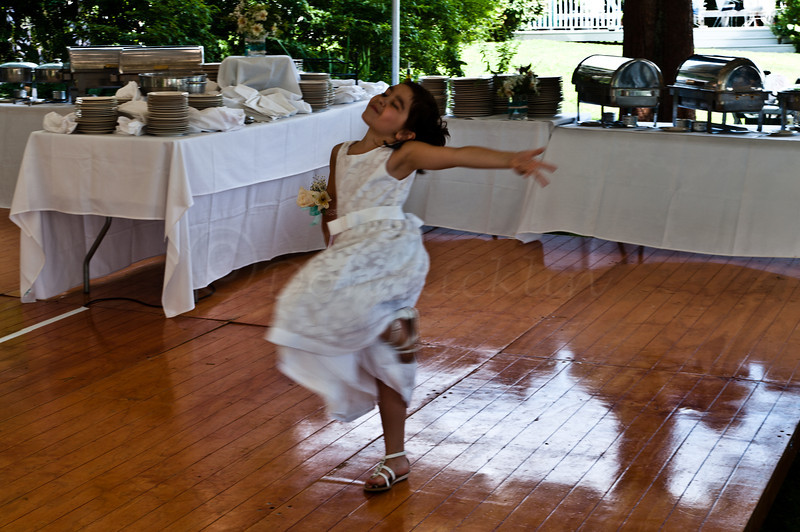 Dancing Flower Girl