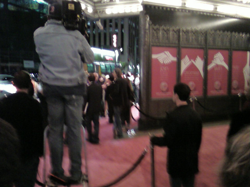 The pink carpet, and all the pink signs!