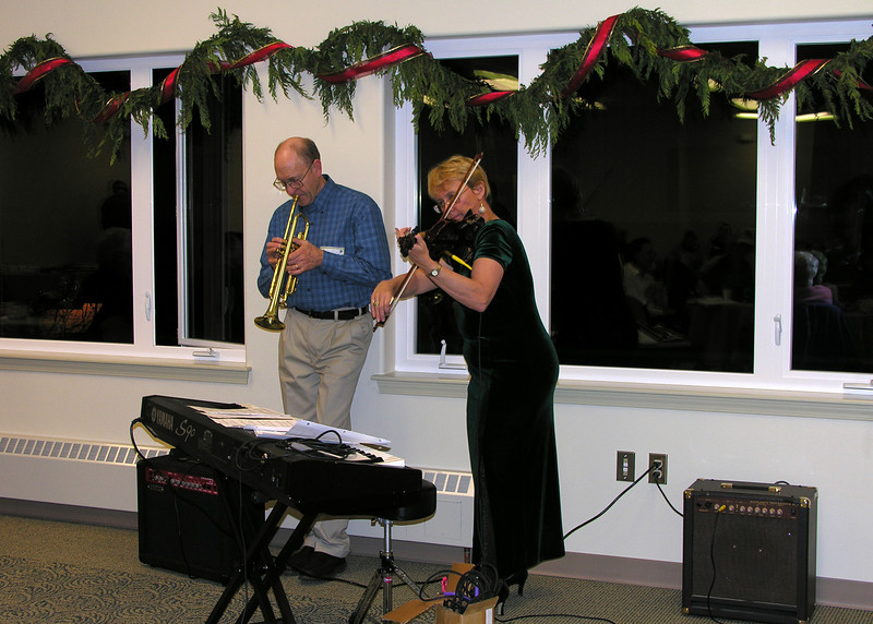 Rod and Mary played while everyone enjoyed singing Christmas Carols.