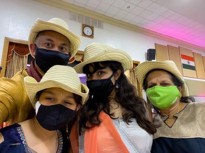 Me, Riya, Nisha, and Mom