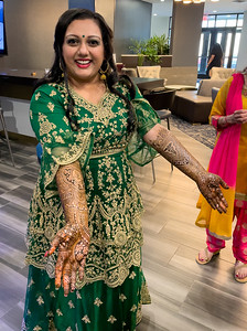 Payal's mendhi took a lot of time and patience.