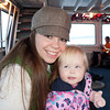 Sarah and Katie on the way to Downtown Seattle on the Water Taxi