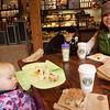 Birthday breakfast at Starbucks on the Seattle Waterfront