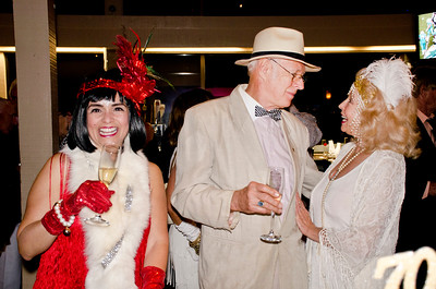 George Von Bozzay, center; Cheryl Haley, right - Sheila Ash birthday party