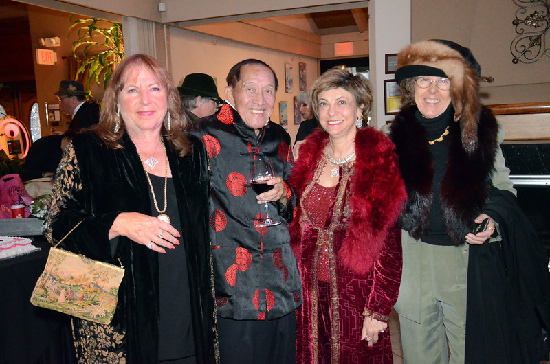 Mindy Canter, left; Henry Him, 2nd on left; Ludmmila Kisseleva Eggleton, 2nd on rt; Eva Strauss-Rosen, right - Sheila Ash birthday party