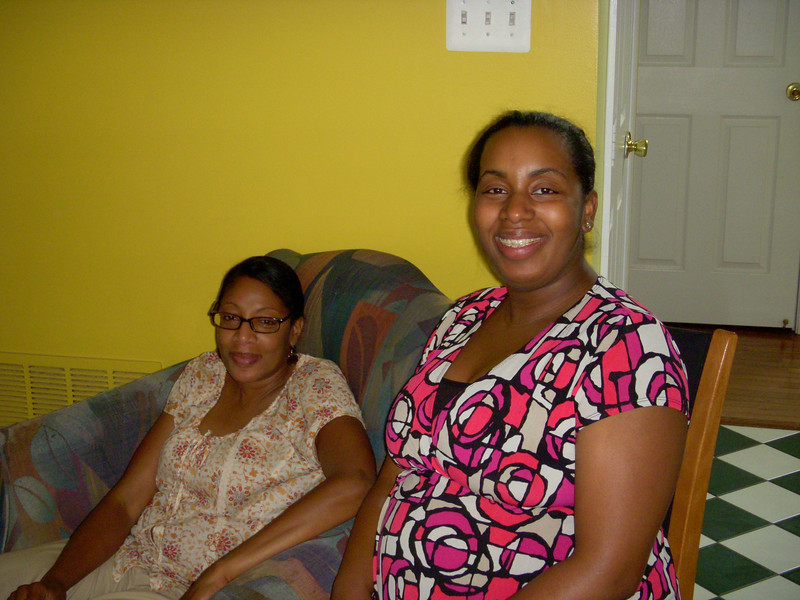 Donnita with her aunt.