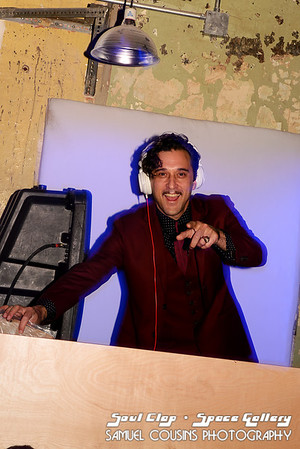 DJ Jonathan Toubin hosting the Soul Clap dance party at Space Gallery.