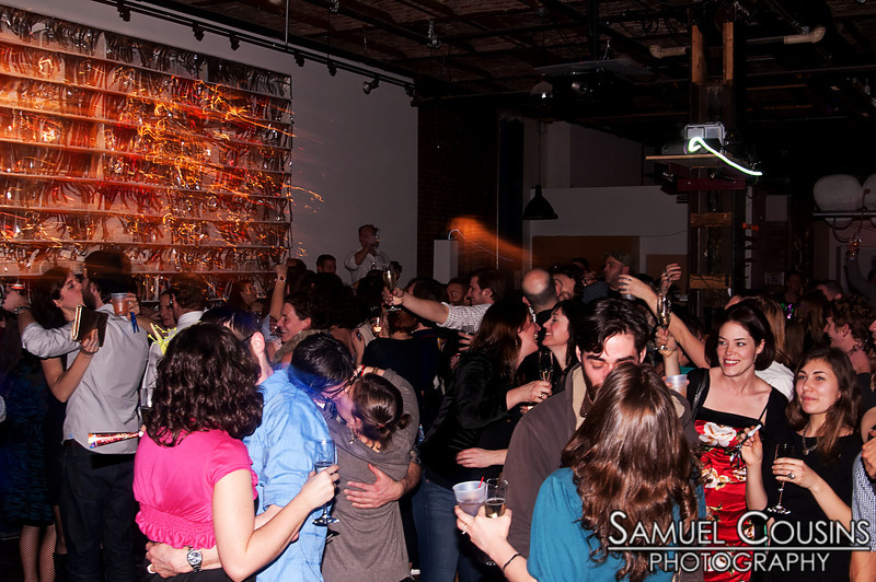 People dancing at Space Gallery's Icing New Year's Eve Party