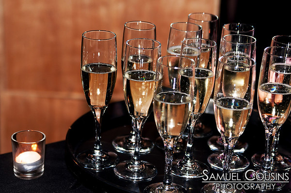Glasses of champagne at Space Gallery's Icing New Year's Eve Party