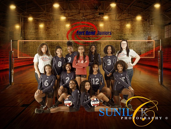 FBJ 2015 Team 12 Photo Shoot - Fort Bend Volleyball Club