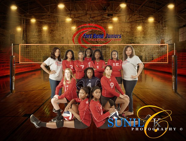 FBJ 2015 Team 14 Photo Shoot - Fort Bend Volleyball Club