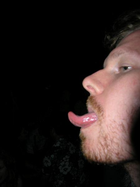 Nice tongue action Ben