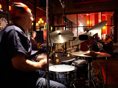 Stan Reese on drums. Its his party!!