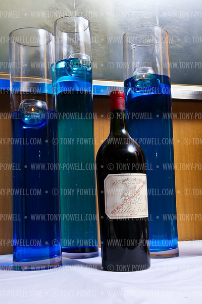 """Photo by Tony Powell. $25,000 bottle of wine Chateau Margaux Grand Vin 1900. Starlight """"Bedtime Bash"""". Four Seasons Hotel. November 20 2010"""